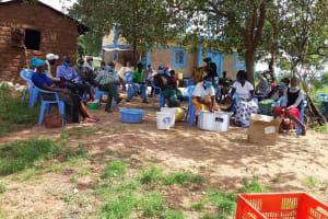The Water Project: Kaketi Community B -  Gathered