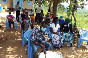 The Water Project: Kaketi Community B -  Mixing Soap