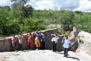 The Water Project: Kaketi Community B -  Community Members At Dam