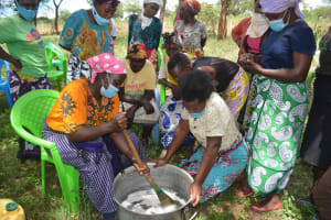 The Water Project: Mbitini Community B -  Mixing Soap