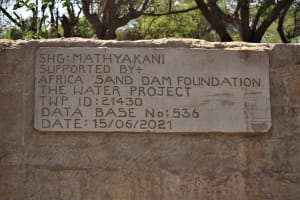 The Water Project: Mbitini Community B -  Plaque