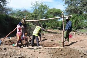 The Water Project: Mbitini Community C -  Drilling Well