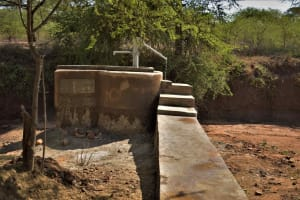 The Water Project: Mbitini Community C -  Water Flowing