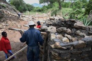 The Water Project: Yumbani Community C -  Propping Up Walls