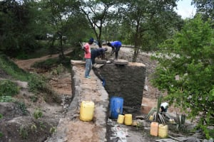 The Water Project: Yumbani Community C -  Nearing Completion