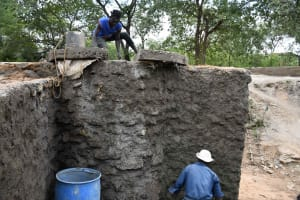The Water Project: Yumbani Community C -  Plastering