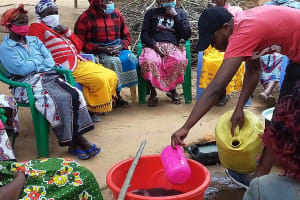 The Water Project: Yumbani Community C -  Mixing Detergent