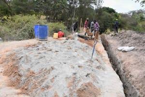 The Water Project: Ivumbu Community B -  A Lot Of Cement