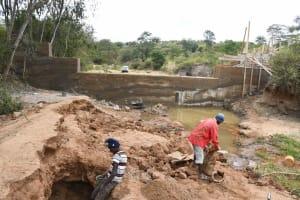 The Water Project: Ivumbu Community B -  Dam And Well In Progress