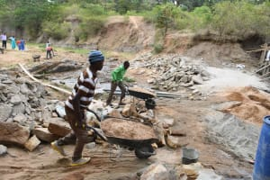 The Water Project: Ivumbu Community B -  Ferrying Sand