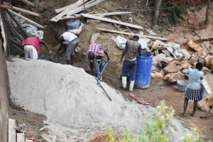 The Water Project: Ivumbu Community B -  Mixing Cement