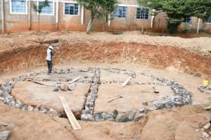 The Water Project: Nzeluni Girls Secondary School -  Laying Foundation
