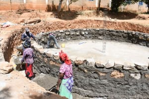 The Water Project: Nzeluni Girls Secondary School -  Building Walls