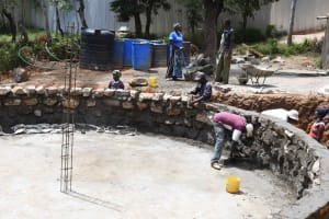 The Water Project: Nzeluni Girls Secondary School -  Plastering