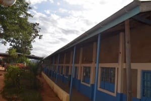 The Water Project: Nzeluni Girls Secondary School -  Installed Gutters