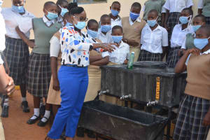 The Water Project: Nzeluni Girls Secondary School -  Handwashing Training