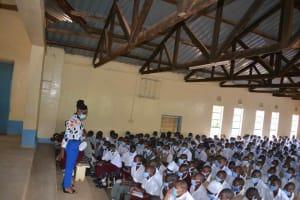 The Water Project: Nzeluni Girls Secondary School -  Training Underway