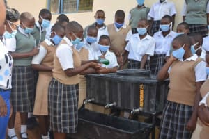 The Water Project: Nzeluni Girls Secondary School -  Trying It Out