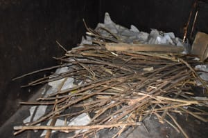 The Water Project: Shamberere Primary School -  Firewood Storage In Kitchen