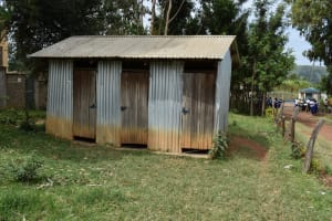 The Water Project: Shamberere Primary School -  Girls Latrines