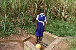 The Water Project: Shamberere Primary School -  Meldrine At Spring