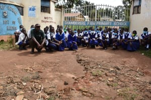 The Water Project: Shamberere Primary School -  Students At Entrance