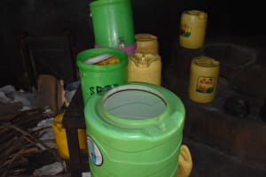 The Water Project: Shamberere Primary School -  Water Containers In Kitchen