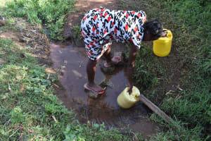 The Water Project: Iyala Community, Iyala Spring -  Collecting Water