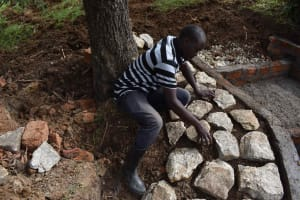 The Water Project: Luyeshe North Community, Reuben Endeche Spring -  Stone Pitching