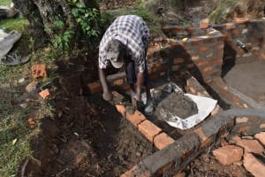 The Water Project: Luyeshe North Community, Reuben Endeche Spring -  Stairs Construction