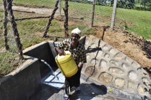 The Water Project: Luyeshe North Community, Reuben Endeche Spring -  All Smiles At Waterpoint
