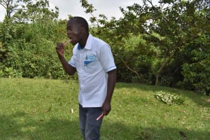 The Water Project: Luyeshe North Community, Reuben Endeche Spring -  Dental Care Demonstration