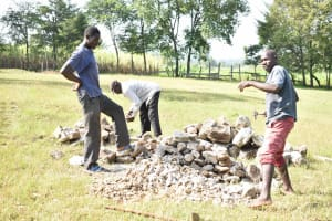 The Water Project: Luyeshe North Community, Reuben Endeche Spring -  Local Materials