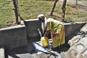 The Water Project: Luyeshe North Community, Reuben Endeche Spring -  Rose Collecting Clean Water
