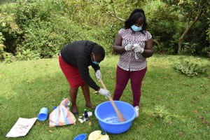 The Water Project: Luyeshe North Community, Reuben Endeche Spring -  Soap Making Mixing Reagents