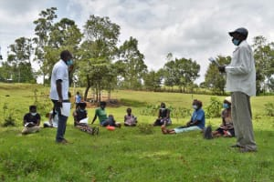 The Water Project: Luyeshe North Community, Reuben Endeche Spring -  Training In Session