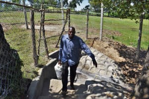 The Water Project: Luyeshe North Community, Reuben Endeche Spring -  Water From The Spring