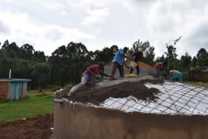 The Water Project: Kabinjari Primary School -  Dome Casting