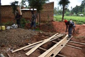 The Water Project: Kabinjari Primary School -  Latrine Foundation