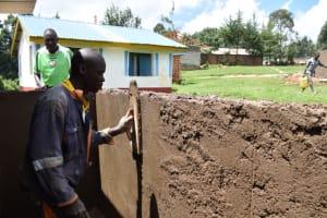 The Water Project: Kabinjari Primary School -  Latrine Walls