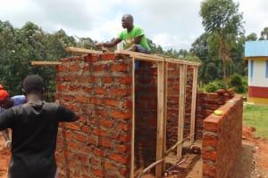 The Water Project: Kabinjari Primary School -  Latrine Roof