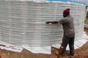 The Water Project: Kabinjari Primary School -  Sugar Sacks In Place