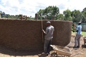The Water Project: Kabinjari Primary School -  Outside Plastering