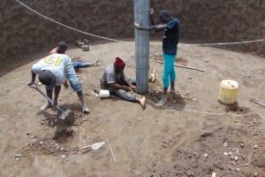 The Water Project: Kabinjari Primary School -  Erecting Pillars