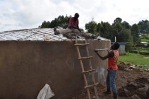 The Water Project: Kabinjari Primary School -  Fixing Manhole