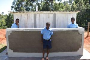 The Water Project: Kabinjari Primary School -  Boys Latrines