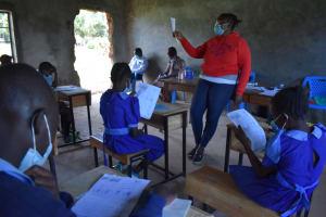 The Water Project: Kabinjari Primary School -  Covid Learning