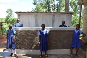 The Water Project: Kabinjari Primary School -  Girls Completed Latrine
