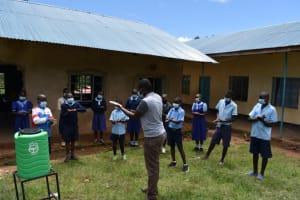 The Water Project: Kabinjari Primary School -  Handwashing Demonstration