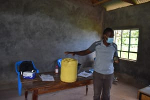 The Water Project: Kabinjari Primary School -  Clean Covered Containers